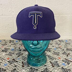 Tulsa Drillers New Era On-Field 59FIFTY 7 3/8 Purple MiLB L.A. Dodgers Affiliate