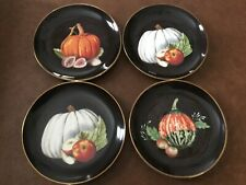 Williams-Sonoma- Harvest Pumpkin Salad Plates (4)