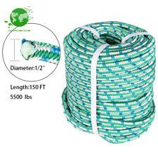 Arborist Tree Climbing Rope 16 Strand Braided Nylon Core Polyester 12 X 150