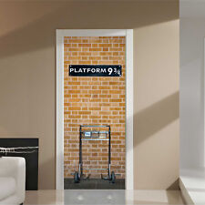 88cm London Brick Door Stickers Murals Self-Adhesive Kings Cross Platform Home