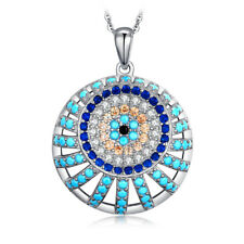 JewelryPalace Spinel Turquoise Cubic Zirconia 925 Sterling Silver Pendant