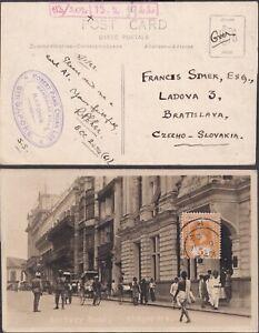 1922 STRAITS SETTLEMENTS SINGAPORE BATTERY Rd real photo PPC street scene