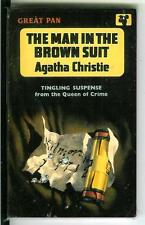 THE MAN IN THE BROWN SUIT Agatha Christie rare British Pan crime pulp vintage pb