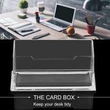 Acrylic Clear Desktop Business Card Holder Stand Display Dispenser Shelf Office