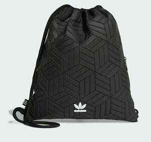 Adidas Originals 3D Swimming Sports Gym Sack Premium Bag Black Rubber Duffel NEW