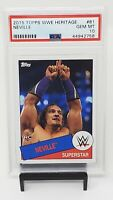2015 Topps WWE Wrestling Card - NEVILLE RookieCard PSA 10 GEM MINT Low Pop 1 !!!