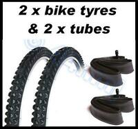 2 x Bike Bicycle 24  x 1.95 TYRES AND TUBES Mountain bike mtb OFF ROAD