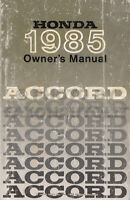 1985 Honda Accord Owners Manual LX S SEi Owner User Instruction Guide Book