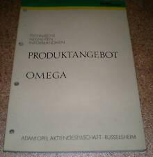 Werkstatthandbuch Opel Omega Modelljahr 1986