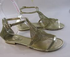 Summer Gold Womens Shoes Roman Gladiator Sandals Size 7.5