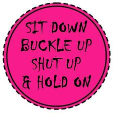 PINK - SIT DOWN, BUCKLE UP, SHUT UP & HOLD ON -  FUN TAX DISC HOLDER - BRAND NEW