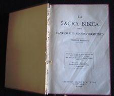 """ART.02063 """"LA SACRA BIBBIA"""" EDIZIONE RIVEDUTA DA GIOVANNI LUZZI """"THE HOLY BIBLE"""""""