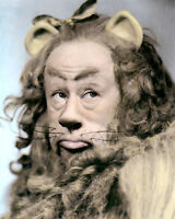 """BERT LAHR COWARDLY LION WIZARD OF OZ 1939 ACTOR 11X14"""" HAND COLOR TINTED PHOTO"""