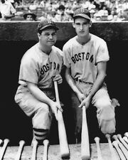 1939 Boston Red Sox JIMMIE FOXX & TED WILLIAMS Glossy 8x10 Photo Baseball Poster
