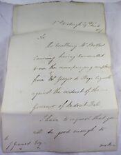 Sir Edward Cromwell Disbrowe St Petersburg Letter 1827 re Cazurelli