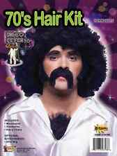 70's Disco Fever Hairy Man Kit Fancy Dress Up Halloween Adult Costume Accessory