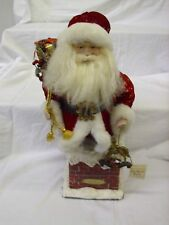 """2004 Old World Santa In Chimney Christmas 18"""" Figure Limited Edition"""