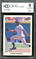 1990 Leaf #300 Frank Thomas Rookie Card BGS BCCG 9 Near Mint+