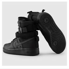 NEW Nike SF Air Force 1 AF1 Triple Black High Shoes Women's Size 6.5 857872-005