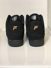 Black/Metallic Gold Fila Shoes Size 7 (Men)