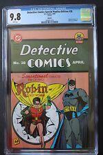 DETECTIVE COMICS 38 ORIGIN 1st Dick Grayson ROBIN Nightwing 1995 Replica CGC 9.8