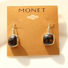 New Monet Resin Drop Dangle Earrings Gift FS Fashion Women Party Holiday Jewelry