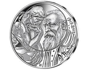 FRANCE 10 Euro Argent RODIN 2017 UNC