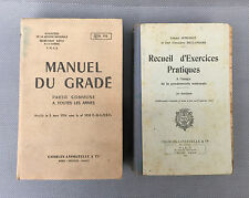 Lot de 2 anciens livres militaire gendarmerie Charles-Lavauzelle old french book