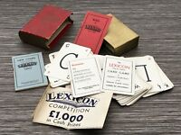 Vintage Lexicon Card Game by Waddington - c. 1935 1st Edition
