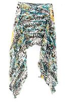 LADIES CREAM / BROWN RETRO ABSTRACT DESIGN PRINT SCARF UNQIUE NEW (MS31)