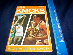 1969-70 NEW YORK KNICKS 1ST TIME WORLD CHAMPIONS YEARBOOK EXCELLENT