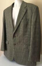 Vtg 1998 Ralph Lauren Houndstooth Wool Blazer Jacket 44 L  44L Canada