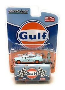 Greenlight 1:64 2021 Ford Mustang Mach GULF w/ Driver Figure Diecast Model 51377
