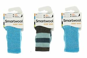 Smartwool 250607 Kids Hike Medium Crew Socks Set Of 3 Capri Size Medium