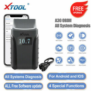 XTOOL A30 All System Code Reader OBD2 Auto Diagnostic Scanner Engine Oil EPB ABS
