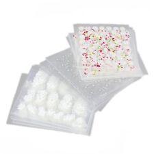 50 Sheets Mix Color Flower 3D Nail Art Sticker A3I9