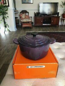 Le Creuset Cast Iron Heart Cassis Purple 2 Qt Cocotte Dutch Oven, seconds