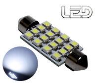 1 Ampoule navette Habitacle plafonnier C10W 41 mm 41mm 16 LED SMD Blanc