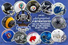 2020 Gold Rush Autografado capacetes de tamanho completo Pro Hall Of Fame Edition Box