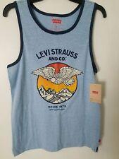 07cf7fbd24f40 Levi Strauss Shirt Tank Top Light Blue Eagle Pride Graphics Muscle Size XXL