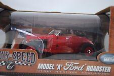 1:18 Highway 61 #50159in - FORD MODELLO A ROADSTER rosso con CERCHI rarità $