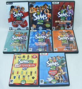 LES SIMS 2  Lot de 8 jeux add-on kits Bonne affaire/Christmas/Bon Voyage/Animaux