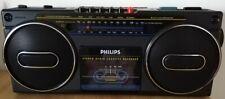 RADIO PHILIPS D 8070 AM FM STEREO RADIO CASSETTE RECORDER FUNZIONANTE VINTAGE 80