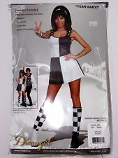 Size Med Women's Go Go 60's Mini Dress Austin Power Costume Cosplay Halloween