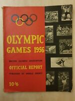 1956 OLYMPIC GAMES - OFFICIAL REPORT - PUBLISHED BY WORLD SPORTS