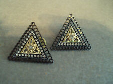 Collar tips black gold crystal Dad223