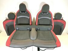 Set Of Red & Black Heated JCW John Cooper Works Seats / Full Interior F56