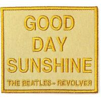 OFFICIAL LICENSED - THE BEATLES - GOOD DAY SUNSHINE SEW ON PATCH LENNON
