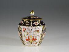 Royal Crown Derby Anitque Imari Rare Round Honey/Jam Pot  #2451, England c.1911