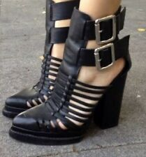 JEFFREY CAMPBELL Black Cantu Ankle Boots 38